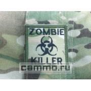 Нашивка с липучкой для униформы ACU Multicam. Zombie Killer