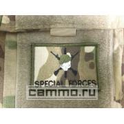 Нашивка с липучкой для униформы ACU Multicam. Special Forces