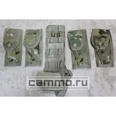 4 подсумка под пистолетные магазины и панель Molle II Multican. Оригинал. США